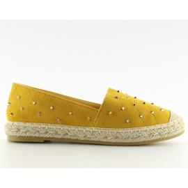 Espadryle z ćwiekami żółte 5481 Yellow