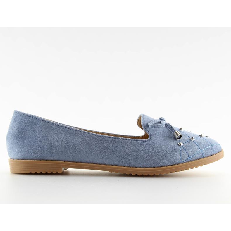 Mokasyny lordsy niebieskie 2568 blue
