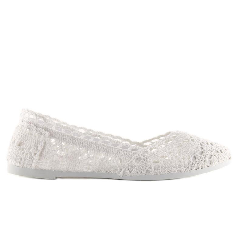 Baleriny koronkowe białe JX59P white