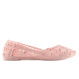 Baleriny koronkowe różowe JX59P pink