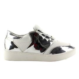 Białe Buty sportowe neonowo lustrzane GQ2336 White