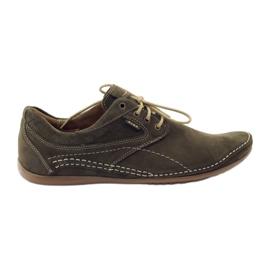 Zielone Riko buty męskie półbuty casual 844
