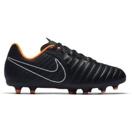 Nike Buty piłkarskie Tiempo Legend 7 Club Fg Jr czarne czarne