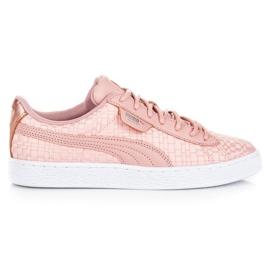 Różowe Puma Basket Satin Ep WN`S