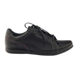 Czarne Riko buty męskie półbuty sportowe 776