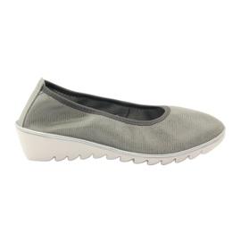 Półbuty buty damskie skórzane mokasyny Filippo 045 szare