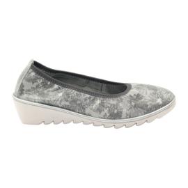 Szare Półbuty buty damskie skórzane mokasyny Filippo 046