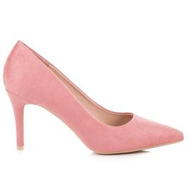 Milaya Zamszowe różowe szpilki
