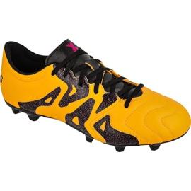 Buty piłkarskie adidas X 15.3 FG/AG M Leather S74640 pomarańczowe pomarańczowe