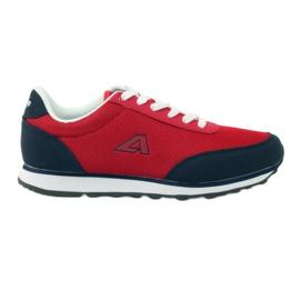American Club Buty sportowe wiązane American czerwone