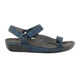 Daszyński niebieskie Sandały Jezuski wkładka skórzana blue
