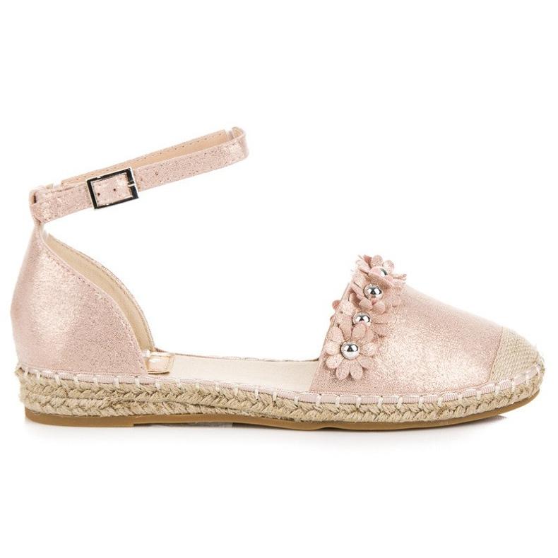Anesia Paris Różowe sandały espadryle
