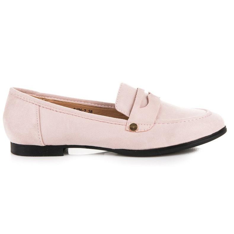Sweet Shoes Różowe Wsuwane Mokasyny