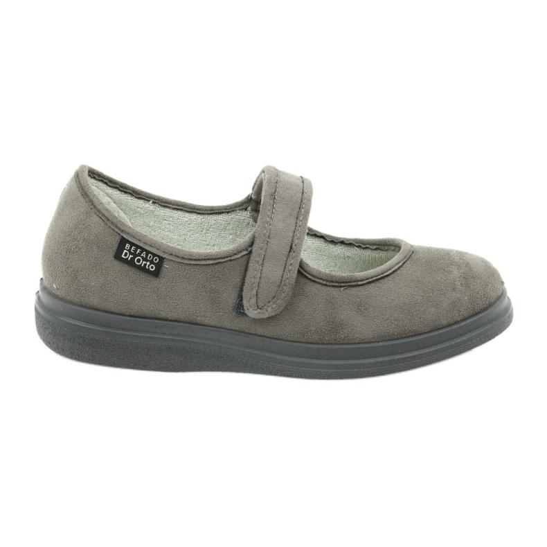 Befado obuwie damskie pu 462D001 szare