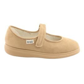 Befado obuwie damskie pu 462D003 brązowe