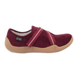 Befado obuwie damskie pu--young 434D016 czerwone