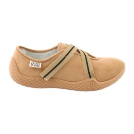 Brązowe Befado obuwie damskie pu--young 434D017