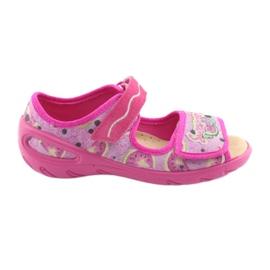 Różowe Befado obuwie dziecięce pu 433X030