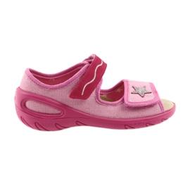 Różowe Befado obuwie dziecięce pu 433X032