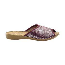 Fioletowe Befado obuwie damskie pu c 254D072