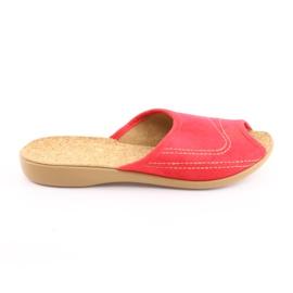 Befado obuwie damskie pu 254D008 czerwone