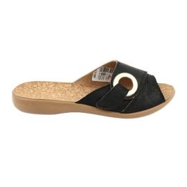 Czarne Befado obuwie damskie pu 265D005