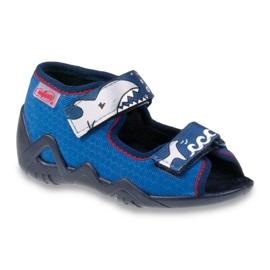 Befado obuwie dziecięce 250P069 niebieskie
