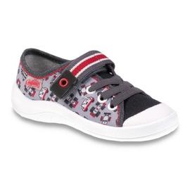 Befado obuwie dziecięce 251X083 czerwone szare