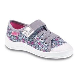 Befado obuwie dziecięce 251X087 różowe szare