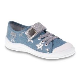 Befado obuwie dziecięce 251Y094 szare niebieskie