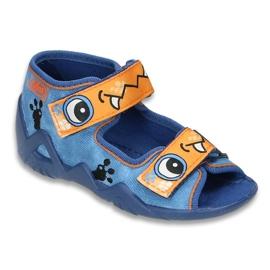 Befado obuwie dziecięce 250P056 niebieskie
