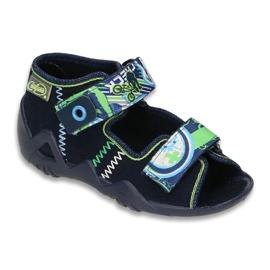 Granatowe Befado obuwie dziecięce 250P058