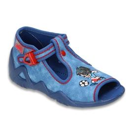 Befado obuwie dziecięce 217P088 niebieskie