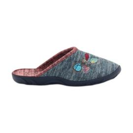 Niebieskie Befado kolorowe obuwie damskie pu 235D151