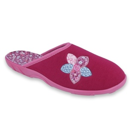 Różowe Befado kolorowe obuwie damskie 235D156