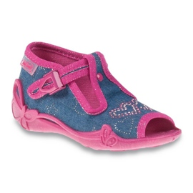 Befado niebieskie obuwie dziecięce 213P101 granatowe różowe