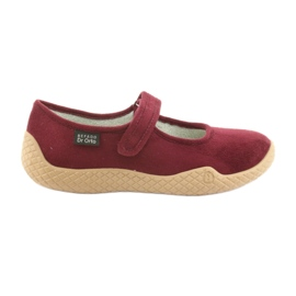 Befado obuwie damskie pu--young 197D003 czerwone wielokolorowe