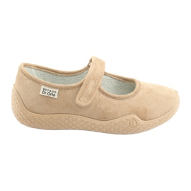 Befado obuwie damskie pu--young 197D004 brązowe