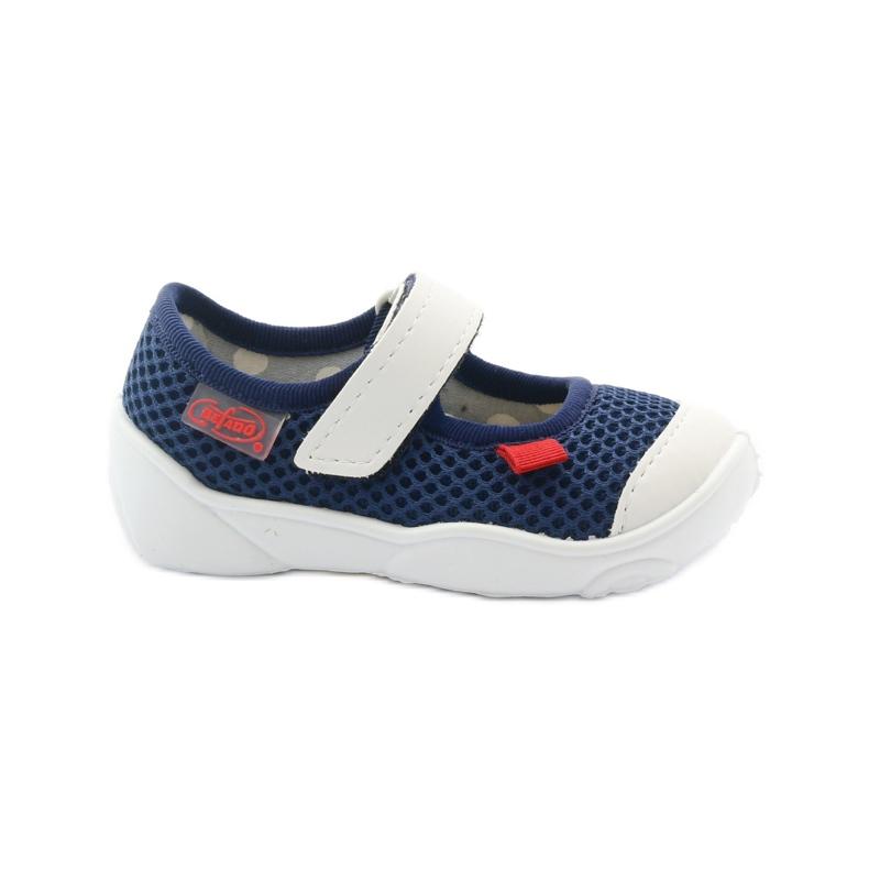 Befado obuwie dziecięce 209P024 granatowe białe