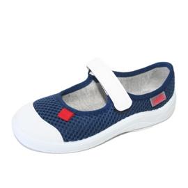 Befado obuwie dziecięce 208X036 granatowe białe