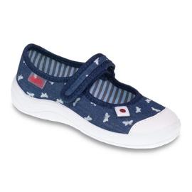 Befado obuwie dziecięce 208X038 granatowe niebieskie