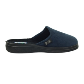 Granatowe Befado obuwie damskie pu 132D006