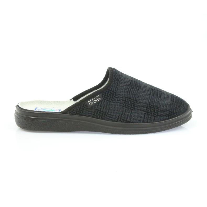 Befado obuwie męskie  pu 125M011 czarne szare