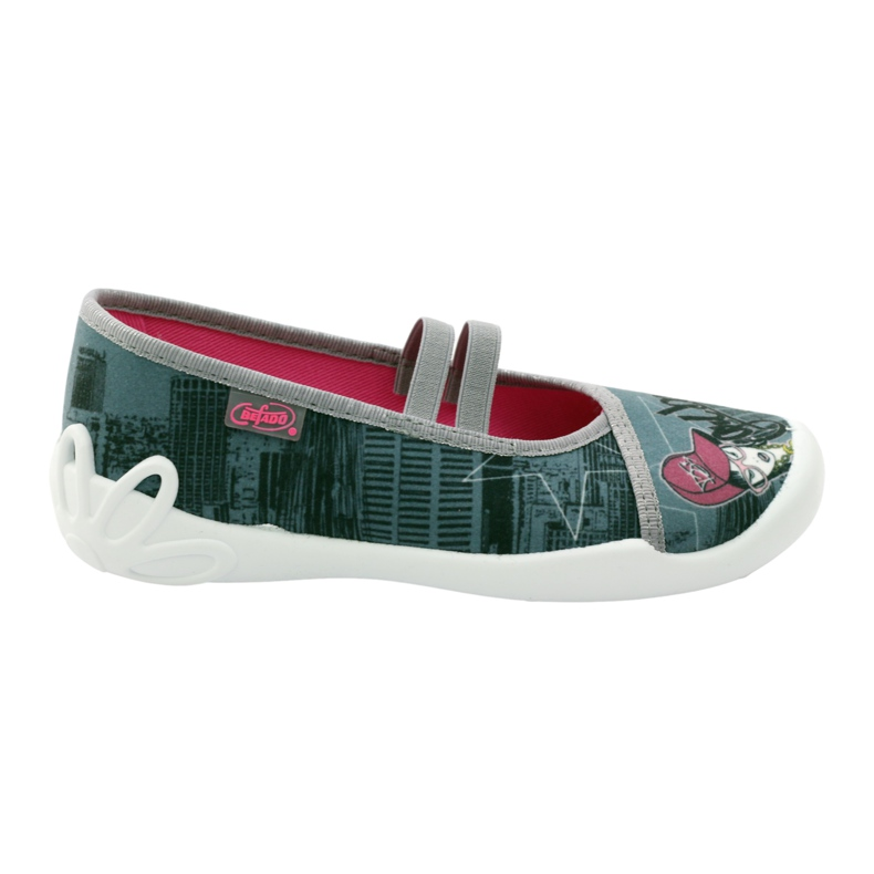 Befado obuwie dziecięce 116Y229 szare wielokolorowe
