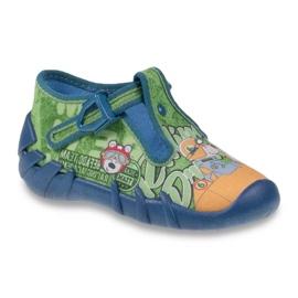 Zielone Befado obuwie dziecięce 110P313