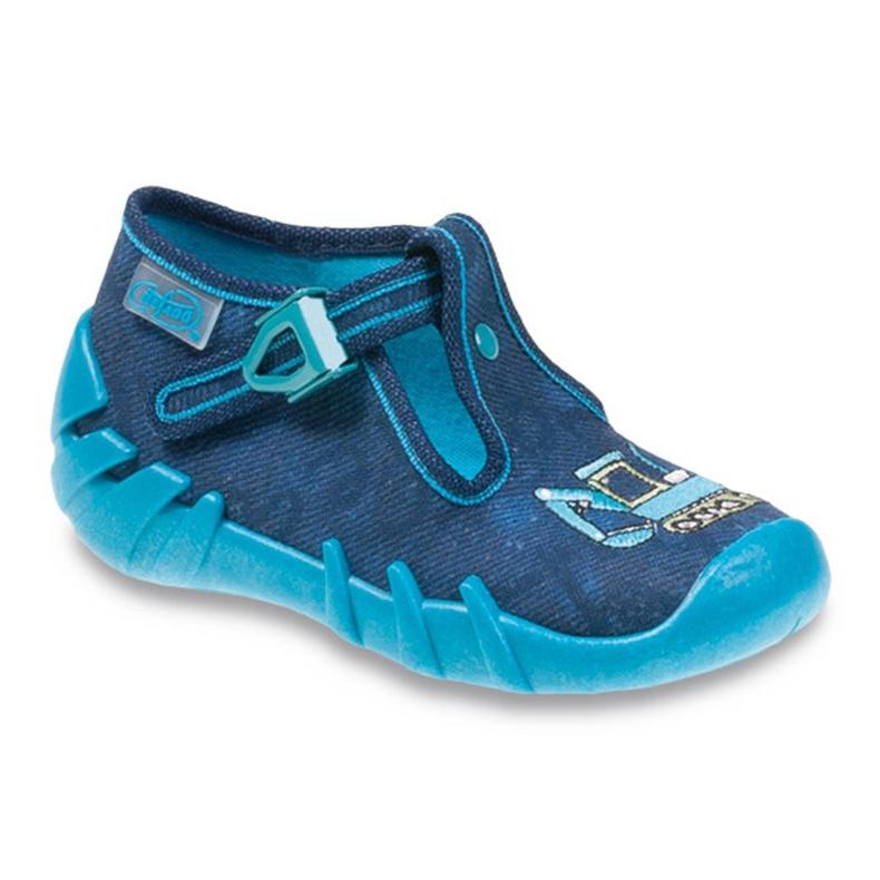 Befado obuwie dziecięce 110P306 niebieskie