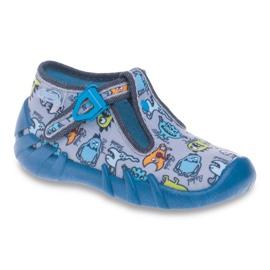 Befado kolorowe obuwie dziecięce 110P308 niebieskie
