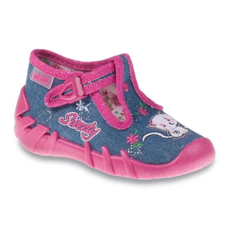 Befado obuwie dziecięce 110P319 granatowe różowe