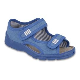 Befado obuwie dziecięce 113X010 niebieskie