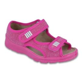Różowe Befado obuwie dziecięce 113X009